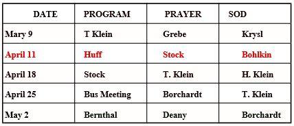 Committee Schedule